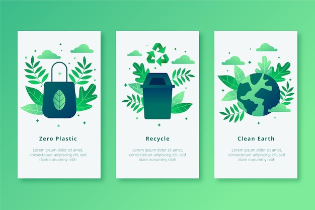Zero plastic earth mobile app screens