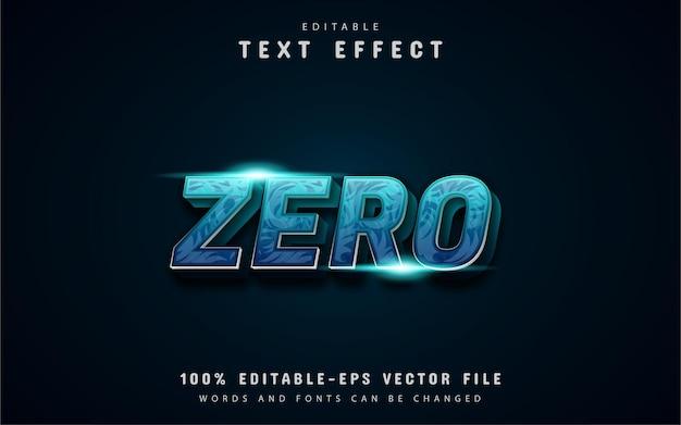 Zero text, blue gradient text effect