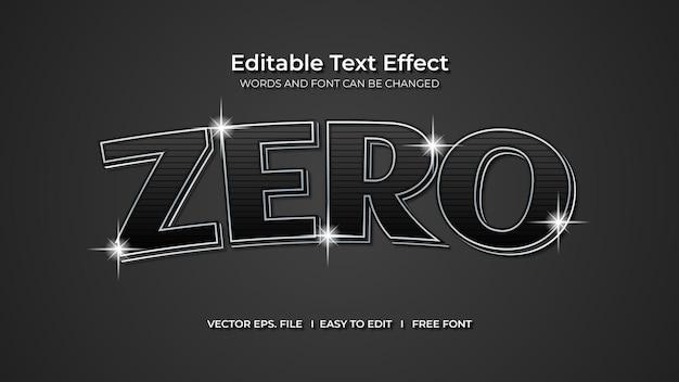 Zero text effect