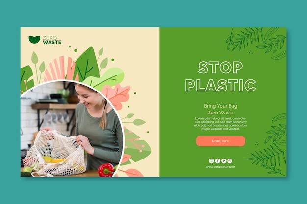 Modello di banner di rifiuti zero