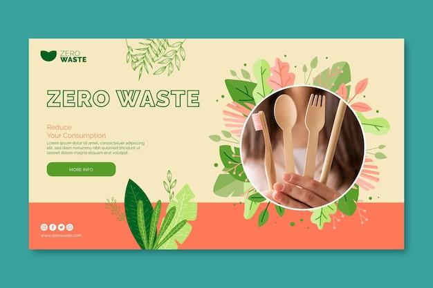 Zero waste banner template