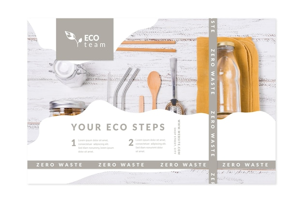Zero waste banners template