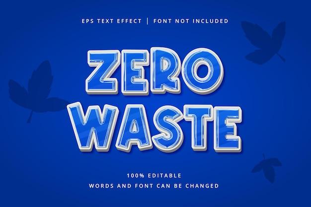 Zero waste editable text effect