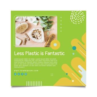 Zero waste flyer square template