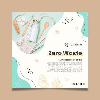 Zero waste flyer template