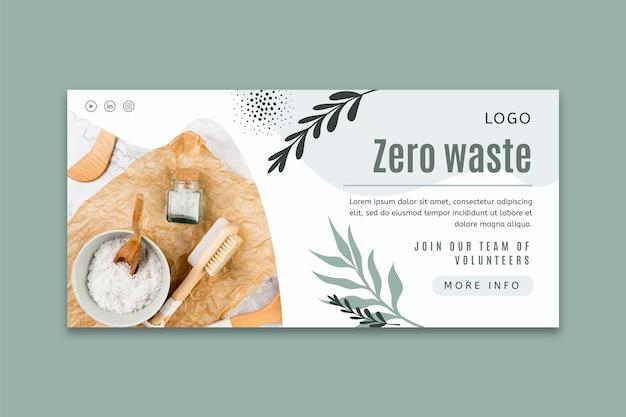 Zero waste horizontal banner template