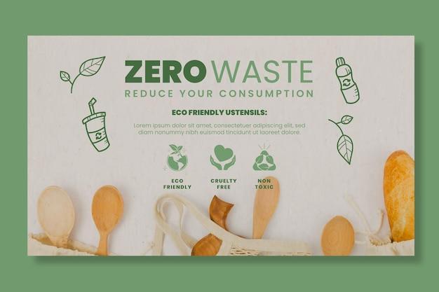 Modello di banner orizzontale zero rifiuti