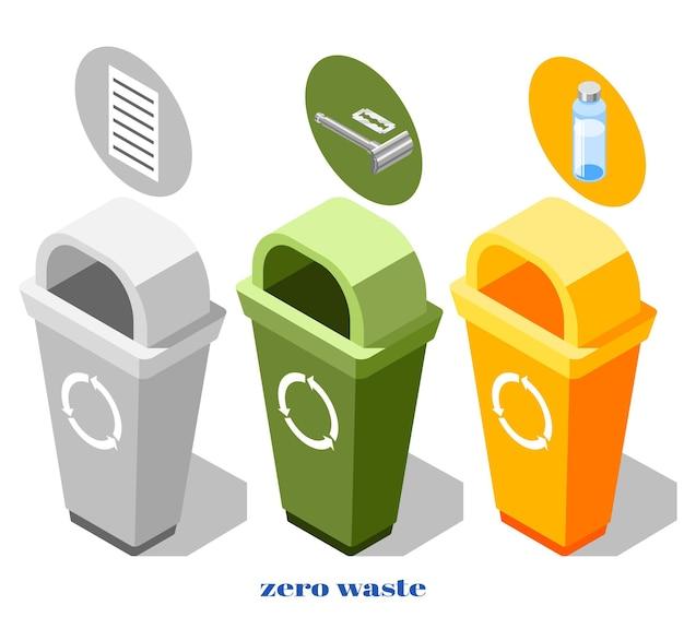 Illustrazione di rifiuti zero