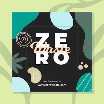 Zero waste instagram post template