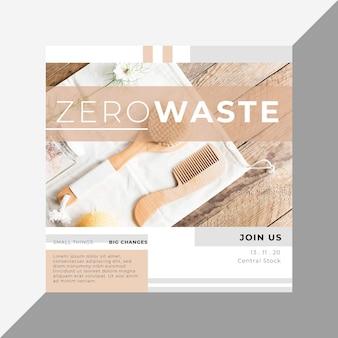 廃棄物ゼロのinstagram投稿テンプレート