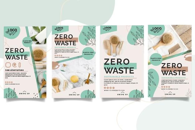 Raccolta di storie instagram a rifiuti zero