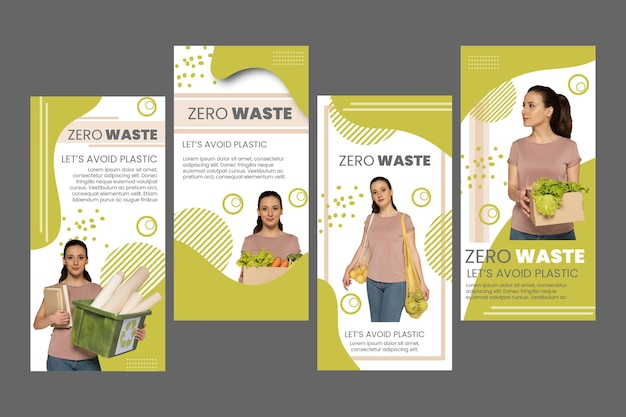 Zero waste instagram stories collection