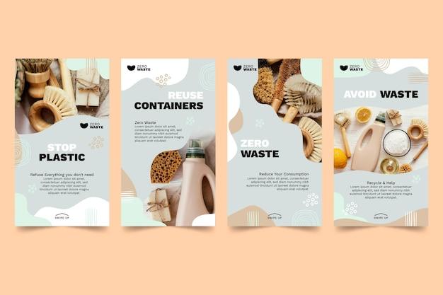 Zero waste instagram storiestemplate