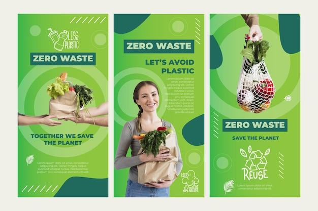 Zero waste instagram stories