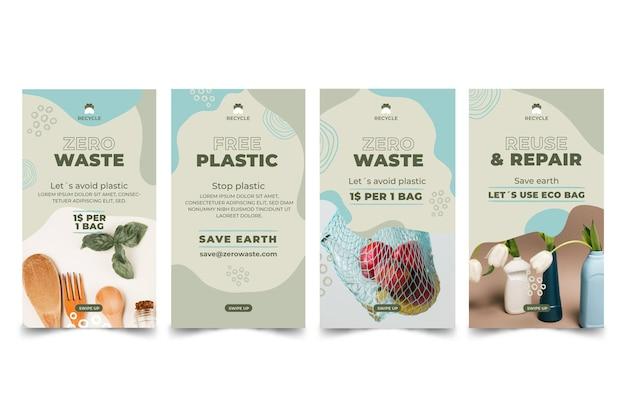 Storie di instagram a rifiuti zero