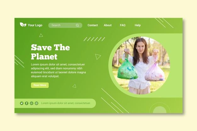 Zero waste landing page template