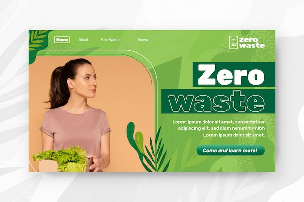 Zero waste landing page template