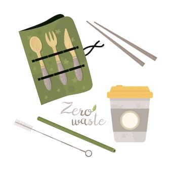 Zero waste lifestyle elements.