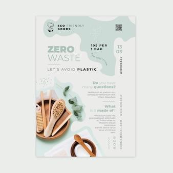 Modello di progettazione di poster di rifiuti zero