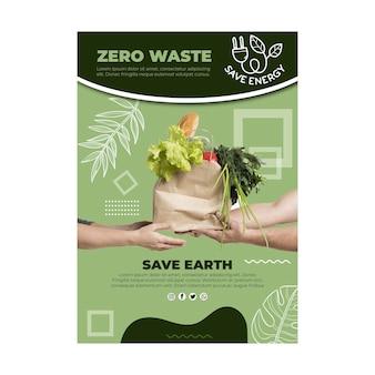 Zero waste poster template