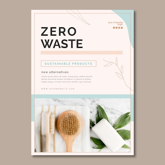 Poster di rifiuti zero