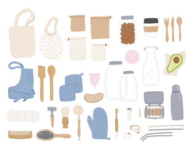 Zero waste set of objects.