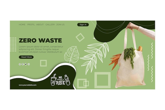 Zero waste web template