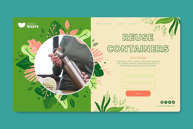 Pagina di destinazione zero rifiuti