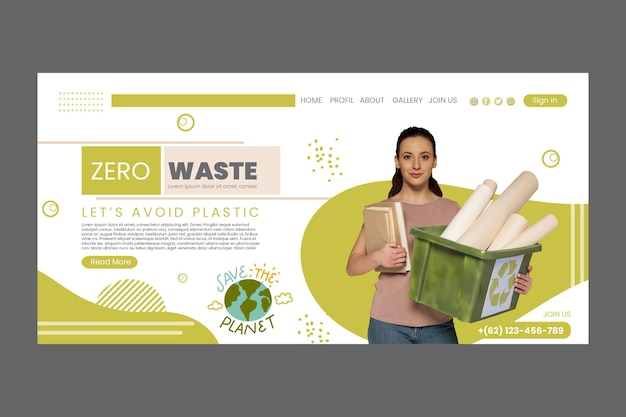 Zero wastee landing page