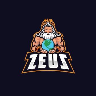 Zeus e sport logo vector