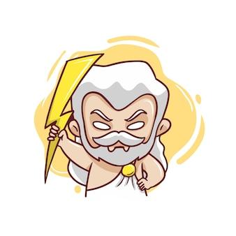 Zeus the god of thunder