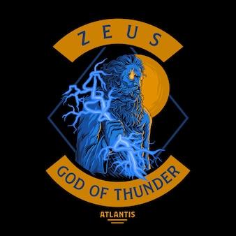 Zeus,god of thunder