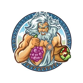 Zeus gyros mascot design