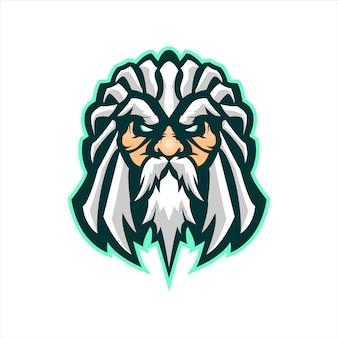 Zeus head gaming mascot
