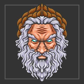 Зевс главный талисман киберспорт дизайн логотипа