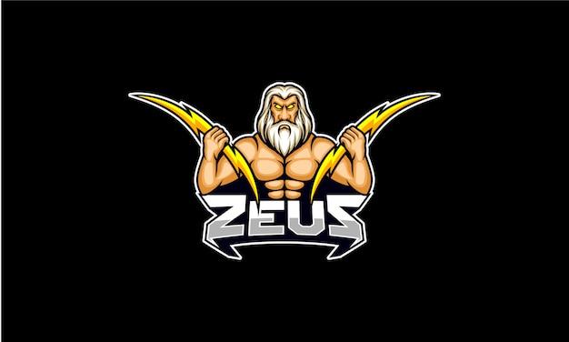 Зевс удерживает световой болт киберспорт логотип