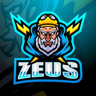 Zeus mascot esport illustration