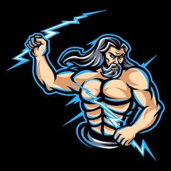 Zeus mascot logo