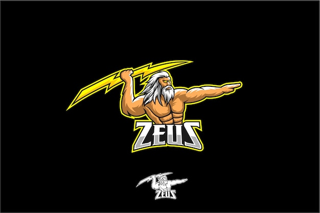 Zeus with bolt mascot sport
