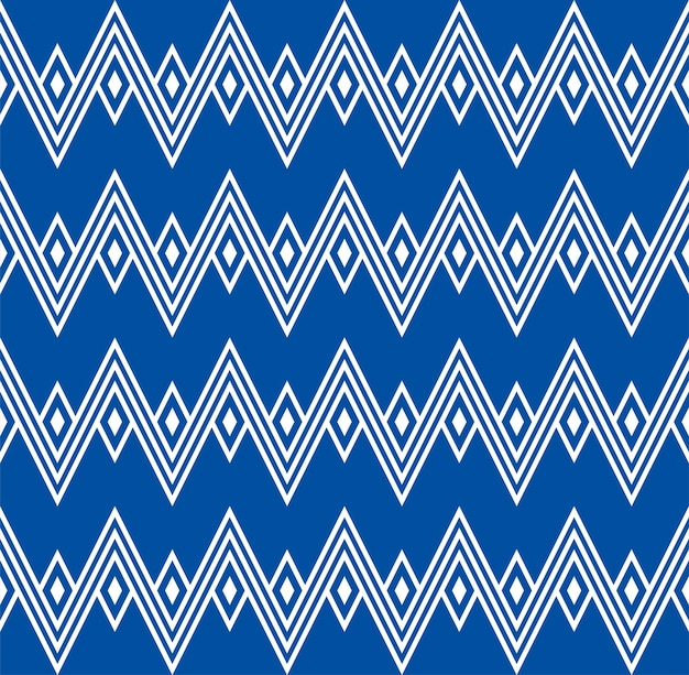 Zig zag ethnic indigenous wigwam mountains seamless pattern curves squares backdrop