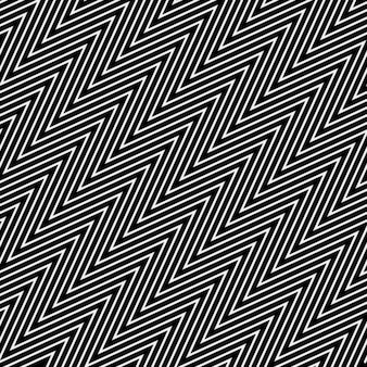 Zig zag pattern with op art style