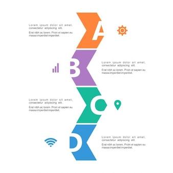 フラット・ビジネス・色の4つのオプションを持つインフォグラフィックのタイムライン