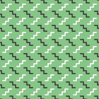 ジグザグパターン、80年代、90年代のレトロなスタイルの抽象的な幾何学的な背景。カラフルな幾何学的なイラスト
