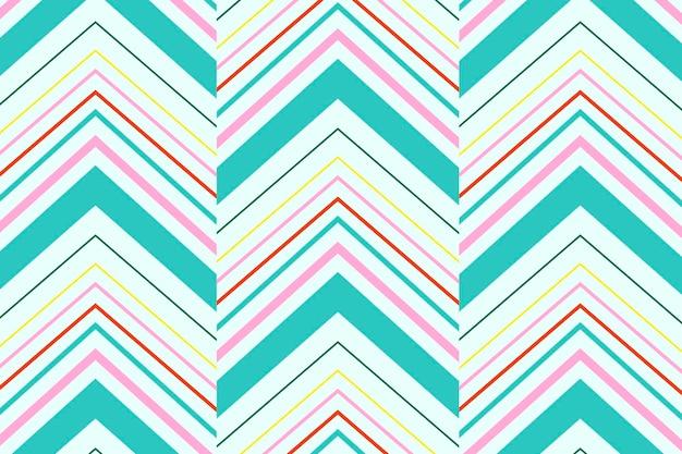 Sfondo con motivo a zigzag, chevron verde acqua, vettore di design creativo