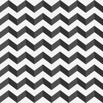 Zigzag seamless pattern print in black and white with a shadow horizontal type