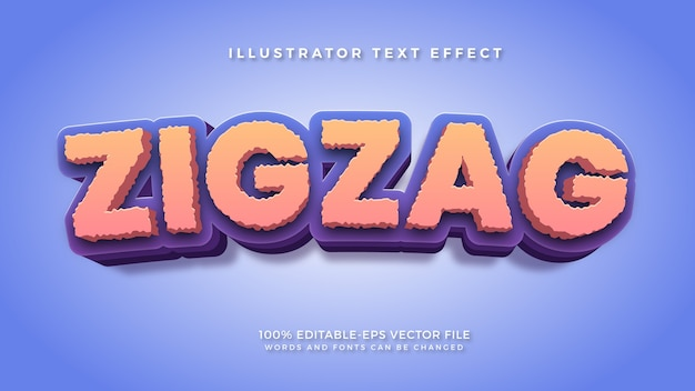 Zigzag style text effect
