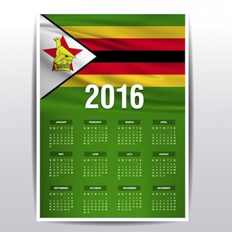 2016 년 짐바브웨 캘린더
