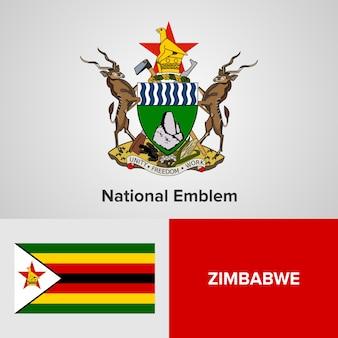 Национальный герб и флаг зимбабве