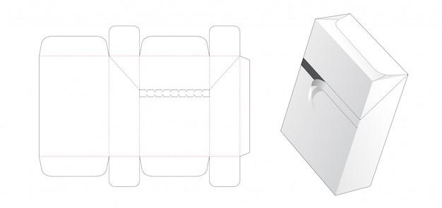 Zipper box die cut template