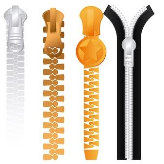 Zipper design over white background, vector illustration.